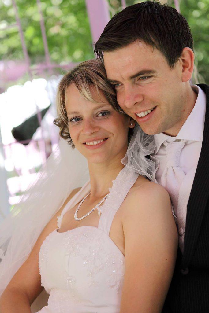 Elegante Hochzeit in Halle - Nahaufnahme Brautpaar