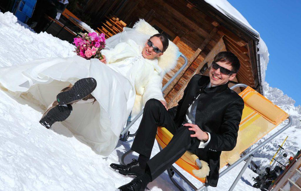 Schnee-Hochzeit auf der Brenneralm am Wilden Kaiser
