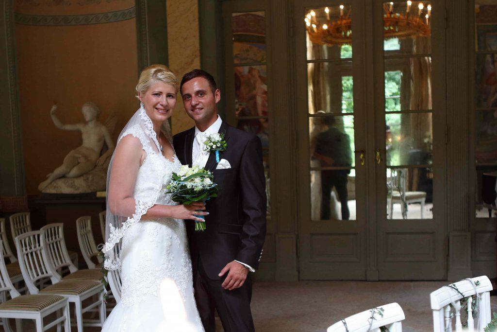 Hochzeitsfotos im Pavillon