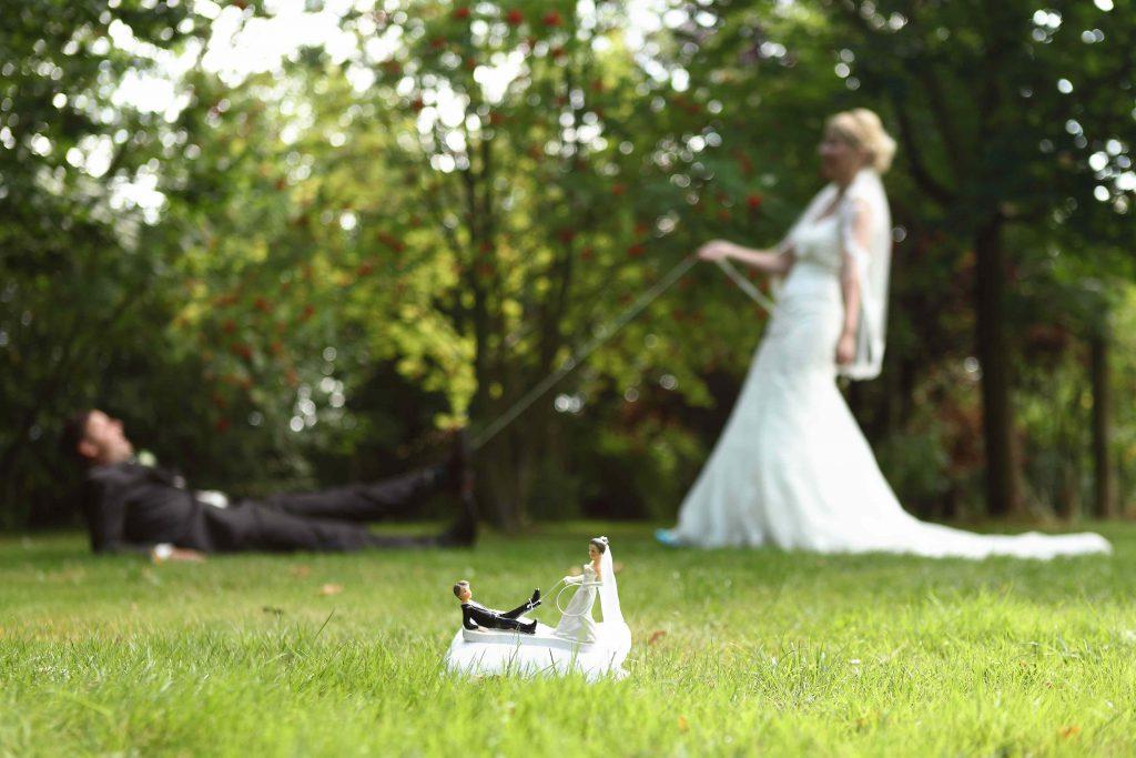 Brautpaarfoto - nachgestelltes Foto