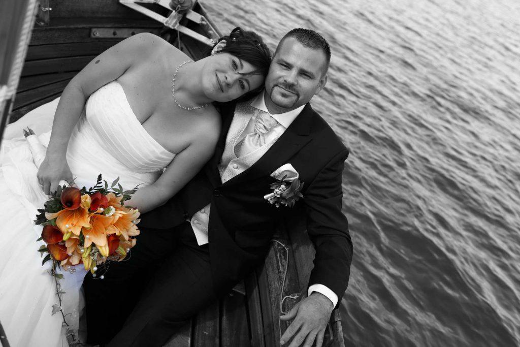 Hochzeit in Delitzsch - Paar schwarz-weiß