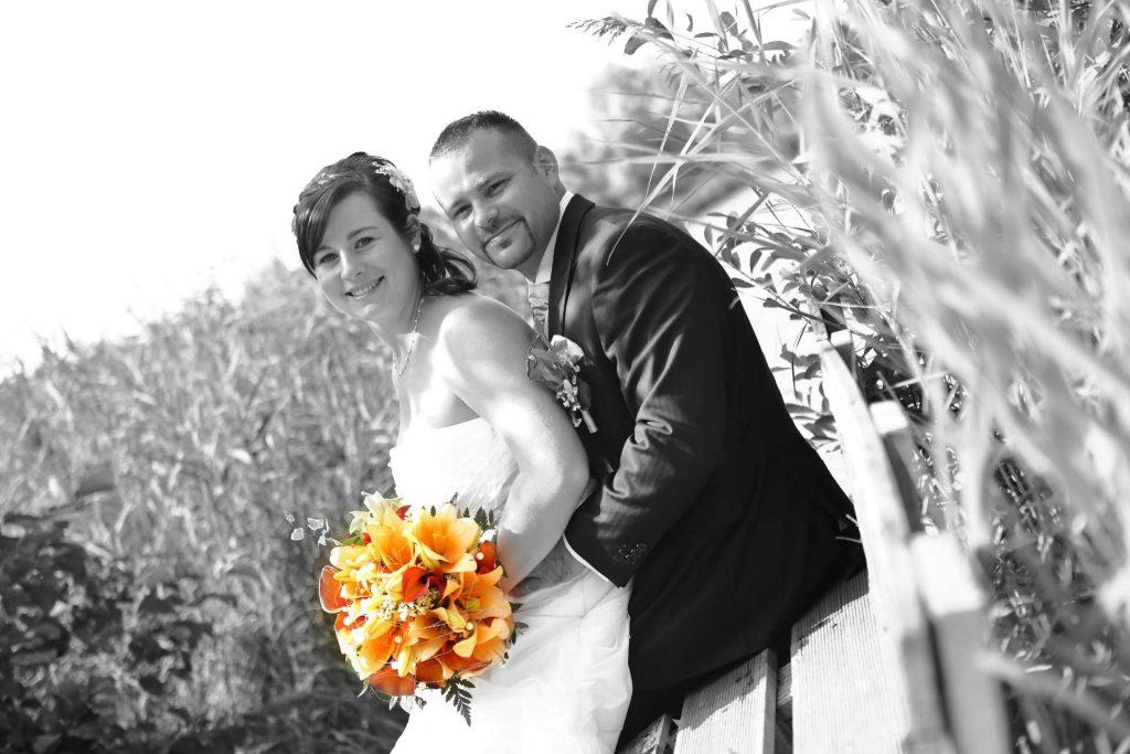 Hochzeit in Delitzsch - Paarfoto schwarz-weiß