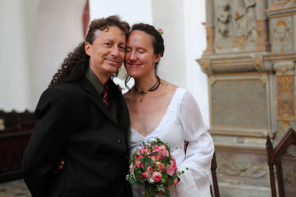 Hochzeit in der Delitzscher Stadtkirche - Brautpaar