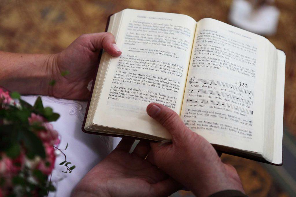 Hochzeit in der Delitzscher Stadtkirche - Gesangbuch