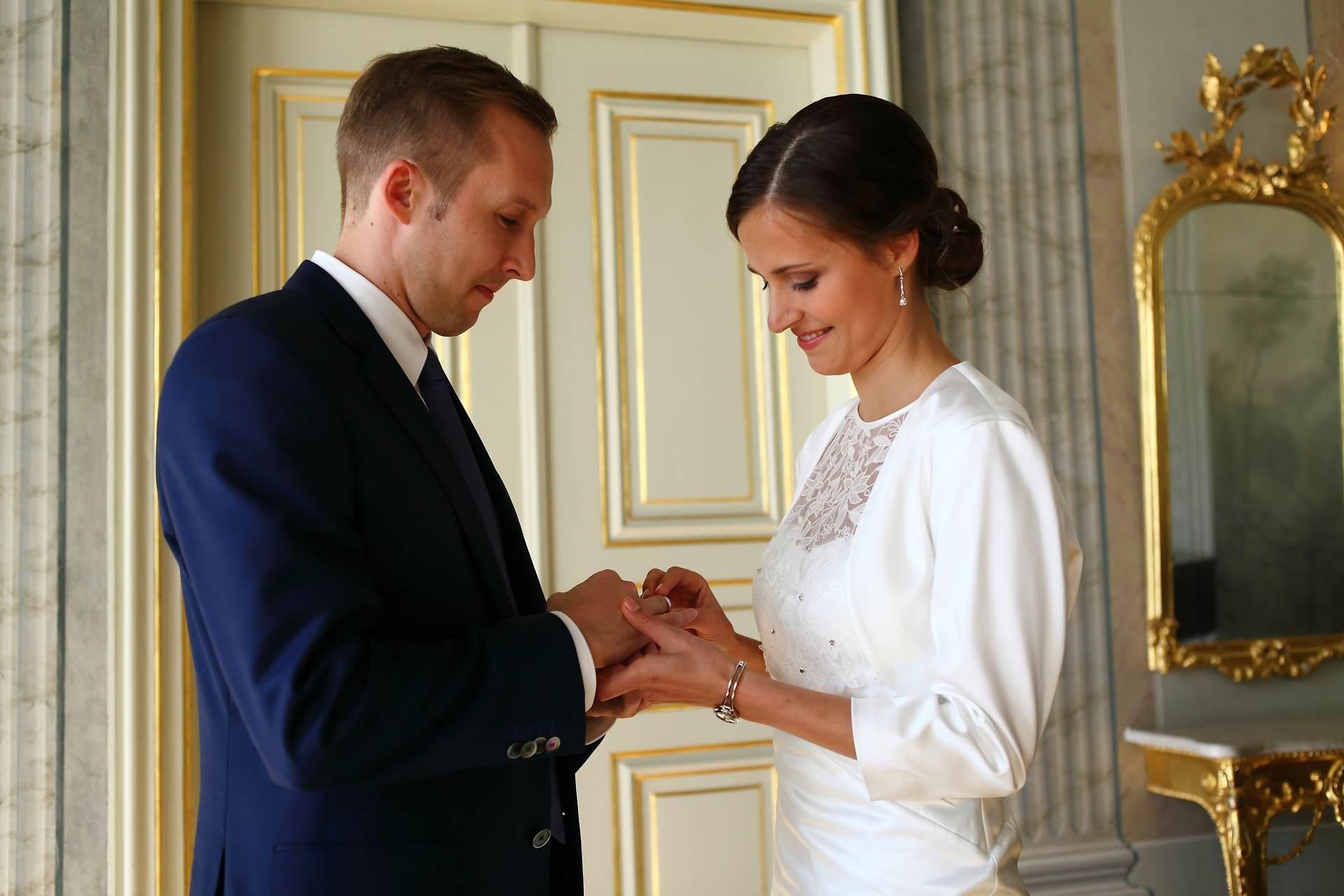 Hochzeitsfotos in Leipzig - Ringetausch
